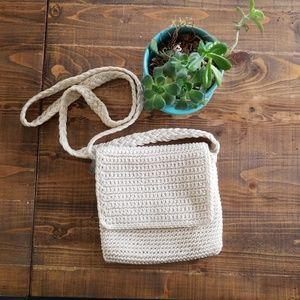 The Sak cream knit mini purse